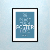 Vector template of frame with poster, placed in Stock Photos
