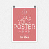 Vector template of frame with poster, placed in Royalty Free Stock Photo