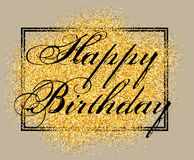 Vector template for greeting card happy birthday with inscription Royalty Free Stock Photography