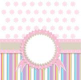 Vector Template Greeting Card Illustration Royalty Free Stock Photo