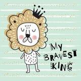 Brave lion body Royalty Free Stock Image