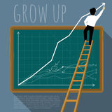 Vector template of growing chart. Stock Photo