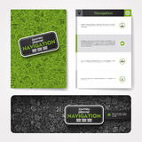 Vector template with hand drawn doodles navigation Stock Photo