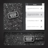 Vector template with hand drawn doodles soccer Royalty Free Stock Image