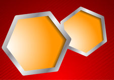 Vector template with hexagons Stock Photo