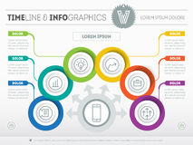 Vector Template of a infochart, diagram or presentation. Part of Stock Photos