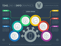 Vector Template of a infochart, diagram or presentation. Web inf Royalty Free Stock Photo