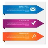 Vector template Infographic Stock Images