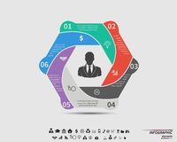 Vector template infographic for your business Royalty Free Stock Photography