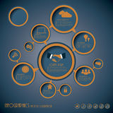 Vector of template for infographics Royalty Free Stock Photography