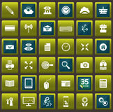Vector template for interface and 35 icons Stock Photo