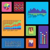 Vector template for interface or infographic. Royalty Free Stock Photo