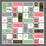 Vector template for interface or infographic. Vector progress background. Royalty Free Stock Photos