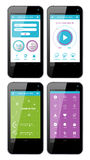 Vector template interface for phone Stock Images