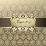 Vector template invitations. Feast-invitation, background, template. Can be used for invitations to any of your ceremony Stock Photos
