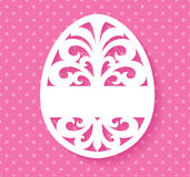 Vector Template for Laser cut Easter egg greeting card, tag, invitation or interior element with floral ornament. Stock Photos