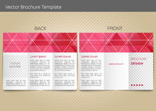 Vector template for leaflet Royalty Free Stock Photo
