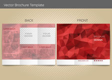 Vector template for leaflet Stock Image