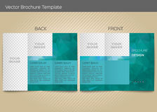 Vector template for leaflet Royalty Free Stock Image
