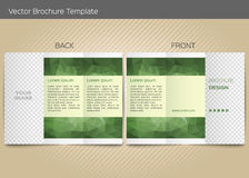 Vector template for leaflet Stock Photo