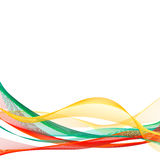 Vector template linear background with Lithuania tricolor. Vector template linear background with tricolor to celebrate October 25 - Constitution Day of Stock Photos