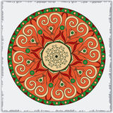 Vector template with mandala.  Geometric background. Card or invitation collection.  Islam, Arabic, Indian, ottoman motifs. Royalty Free Stock Photos