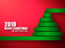 2018 vector template. Merry Christmas and Happy New Year background. Stock Images