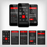 vector template mobile user interface Royalty Free Stock Image