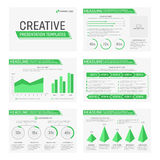 Vector template for multipurpose presentation. Vector template for presentation slides with graphs and charts Royalty Free Stock Images