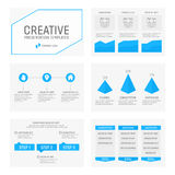 Vector template for multipurpose presentation. Vector template for presentation slides with graphs and charts Royalty Free Stock Photos