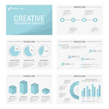 Vector template for multipurpose presentation. Vector template for presentation slides with graphs and charts Stock Photography