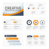 Vector template for multipurpose presentation Stock Photography