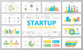 Startup and business multipurpose presentation templates and infographics elements on white background. Use for business. Vector template for multipurpose royalty free illustration