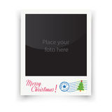 Vector template photo frames Polaroid. Christmas Stock Photography