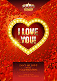 Vector template of poster for St Valentine event in casino Stock Photos