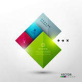 Vector template for presentation. Royalty Free Stock Photos