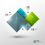 Vector template for presentation. Royalty Free Stock Photography