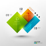 Vector template for presentation. Royalty Free Stock Images