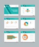 Vector template presentation slides background design Stock Photos