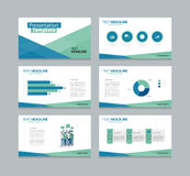 Vector template presentation slides background design Stock Photos