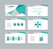 Vector template presentation slides background design Royalty Free Stock Photos