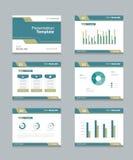 Vector template presentation slides background design.info graphs and charts . slides design Royalty Free Stock Photos