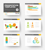 Vector Template for presentation slides 1 Stock Photography