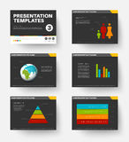 Vector Template for presentation slides 3 Royalty Free Stock Photo