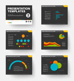 Vector Template for presentation slides 2 Royalty Free Stock Image