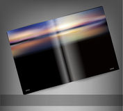 Vector template print edition of the magazine with seascape Stock Image