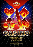 Vector template promo flyer for casino event with flame pattern Stock Photos