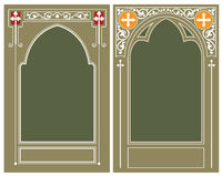 Vector template. Religious frame Stock Photo