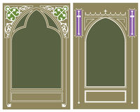 Vector template. Religious frame Stock Images