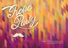 Vector template Retro Party. Abstract geometrical textured colorful background Stock Photo